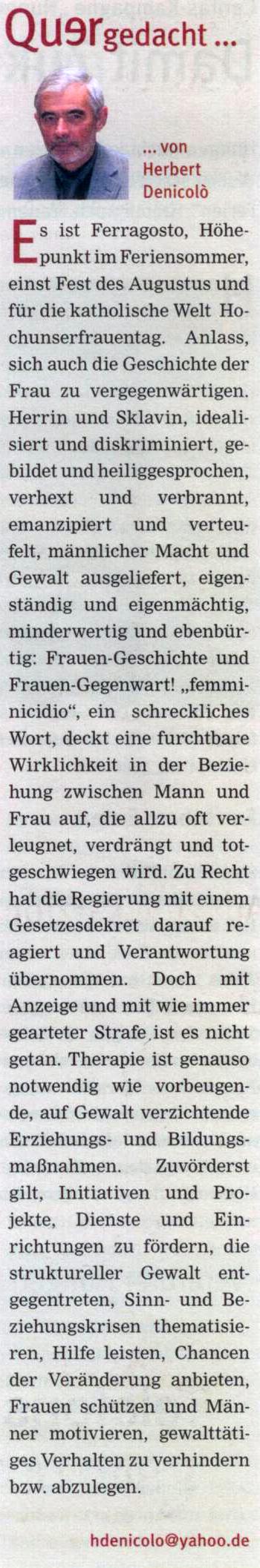 Quelle: Katholisches Sonntagsblatt, Nr. 33/34 vom 18./25.08.13
